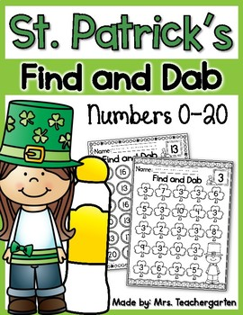 St. Patrick's Find and Dab (Numbers 0-20)