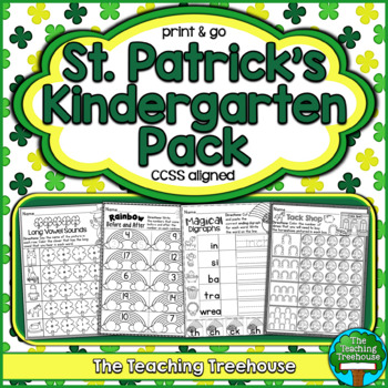 St. Patrick's Kindergarten Pack ~ Print & Go, No Prep ~ CC