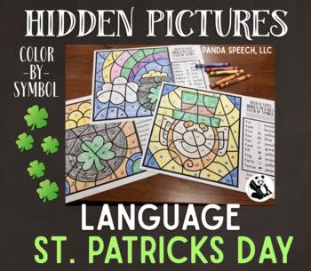 St. Patrick's Language Color by Symbol Hidden Images Speec