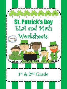 St. Patrick's Theme ELA and Math Worksheets