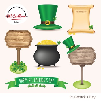 St. Patrick's day clipart, vector graphics CL028