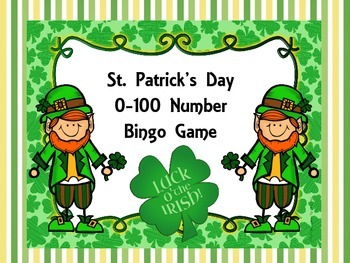 St. Patrick's Day 0-100 Number Bingo