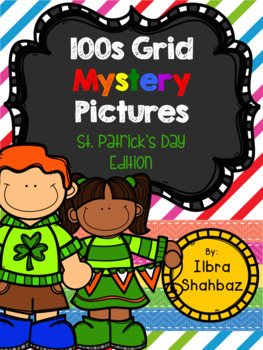 St. Patrick's Day 100s Grid Mystery Picture Puzzles