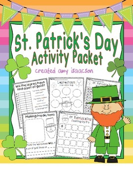 St. Patrick's Day Math and Literacy Printables