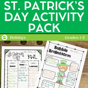 St. Patrick's Day Activities and Printables grades 1-2