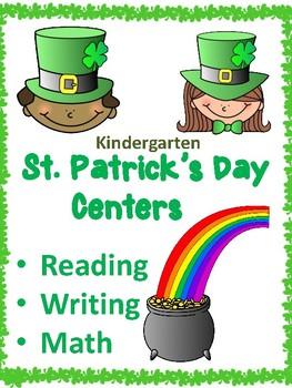 St. Patrick's Day Kindergarten Activities
