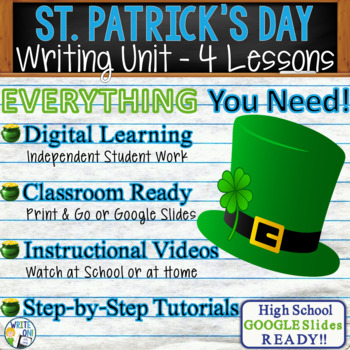 St. Patrick's Day Writing BUNDLE!  Argumentative Persuasiv