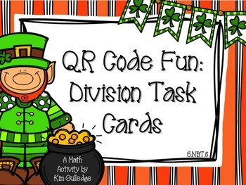 St. Patrick's Day 5th Grade Division with QR Code Fun Comm
