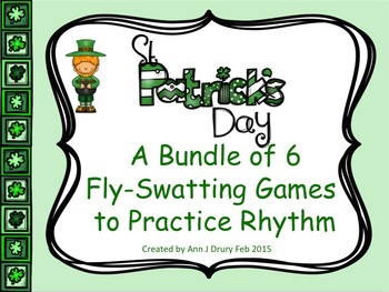 St Patrick's Day - A Bundle of 6 Fly-Swatting Games to Pra