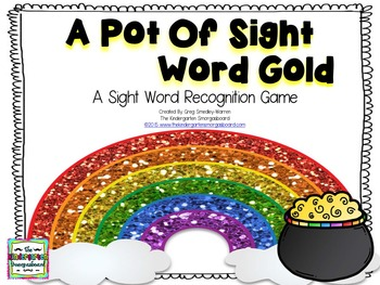 St. Patrick's Day!  A Pot Of Gold Sight Words!  A Sight Wo