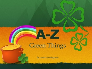 A-Z Green Word PowerPoint