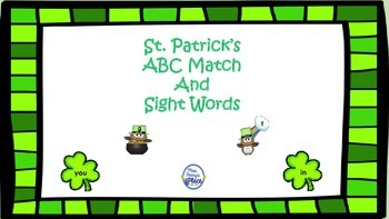 St. Patrick's Day ABC Match and Sight Words