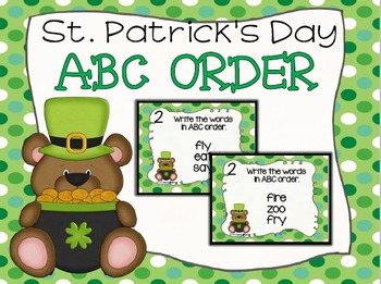 St. Patrick's Day ABC Order Task Cards