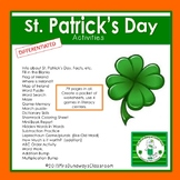 St. Patrick's Day Activities Packet