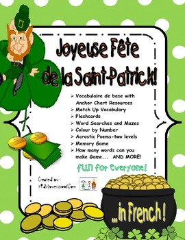 St. Patrick's Day Activities and Fun Stuff all in FRENCH f