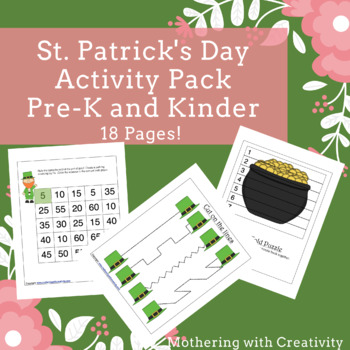 St. Patrick's Day Activity Pack Prek - K