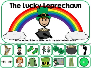 St. Patrick's Day Adapted Interactive Book Special Educati
