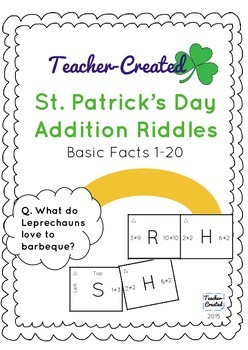 St. Patrick's Day Addition Activity