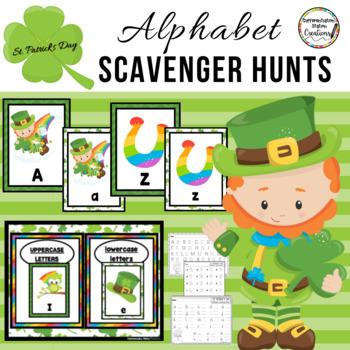 St. Patrick's Day Alphabet Scavenger Hunt:  Center & Printables