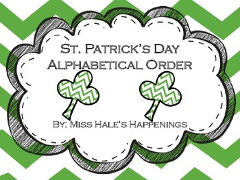 St. Patrick's Day Alphabetical Order (ABC Order)