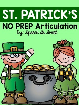 St. Patrick's Day Articulation: NO PREP!