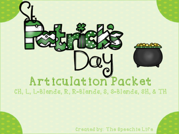 St. Patrick's Day Articulation Packet