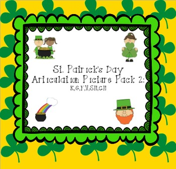 St. Patrick's Day Articulation Picture Pack 2: K,G,F,V,SH,CH