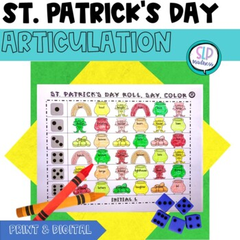 St. Patrick's Day Articulation Roll Say Color - Sound Prac