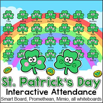 St. Patrick's Day Attendance - SmartBoards, Whiteboards, C