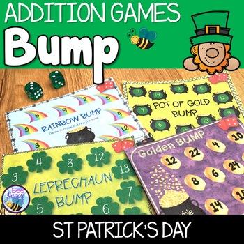 St Patrick's Day Math BUMP games
