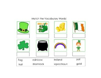 St. Patrick's Day Basic Skills SMART Notebook for Autism a