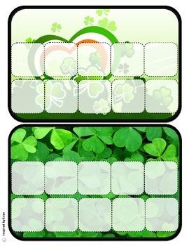 """St. Patrick's Day"" Behavior Token Boards for Autism"