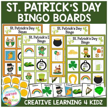 St. Patrick's Day Bingo Lotto Game Autism