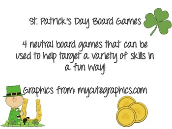 St. Patrick's Day Board Games