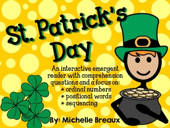 St. Patrick's Day Book Adapted Interactive Emergent Reader