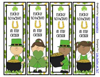 St. Patricks Day Bookmarks - 4 Designs