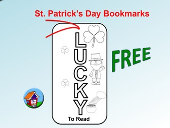 FREE St. Patrick's Day Bookmarks (To Color)