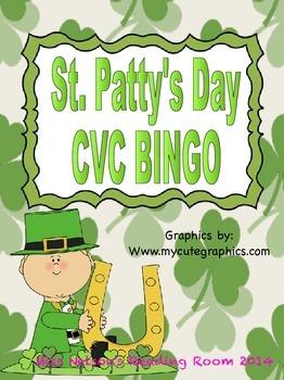 St. Patrick's Day CVC Bingo Game