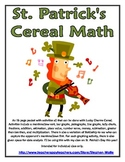 St. Patrick's Day Cereal Math With Lucky Charms Cereal