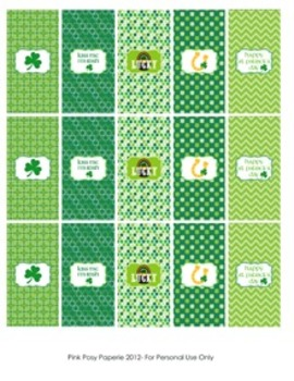 St. Patrick's Day Classroom Party Mini Candy Bar Wrappers