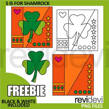 St Patricks Day Clip Art Free, Shamrock Pop Art clipart fo