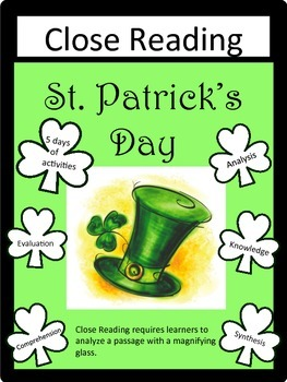 St. Patrick's Day: Close Reading Packet- 5 days of activit