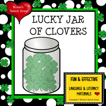 St. Patrick's Day CLOVERS EARLY READER SPEECH THERAPY