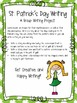 St. Patrick's Day Collaborative Writing Activity: Writing
