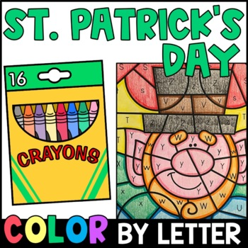 St. Patrick's Day Color By Letter {PRINT & GO}