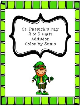 St. Patrick's Day Color by Sum