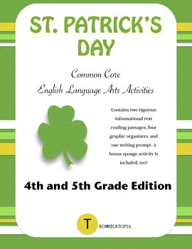 St. Patrick's Day Common Core ELA Activities