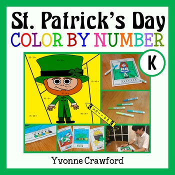 St. Patrick's Day Color by Number (kindergarten) Color by