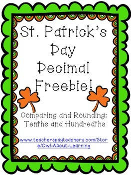 St. Patrick's Day Comparing & Rounding Decimals (10ths and