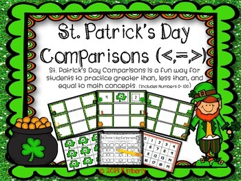 St. Patrick's Day Comparisons (Greater Than, Less Than, or